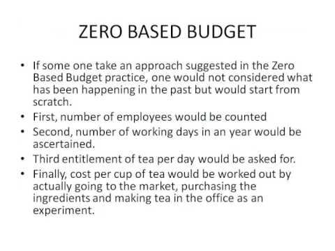 zero based budget Zero-based budgeting: zero or hero introduction for many organizations, the thought of rebuilding the company budget from the ground up can be nightmare.