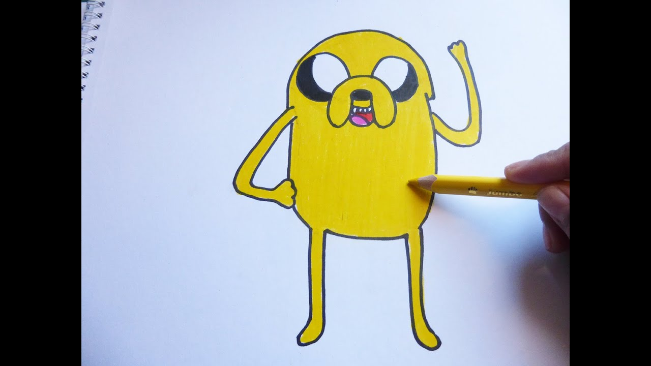 Dibujando y pintando a jake - Drawing and painting to jake - YouTube