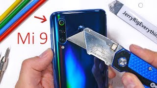 mi 9 durability test is the camera lens sapphire