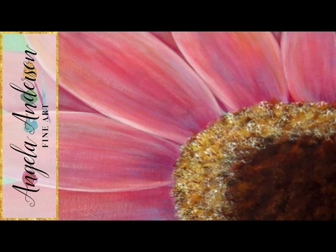 Gerbera Daisy Acrylic Painting Tutorial for Beginners (Part 2) | Free Lesson | How to Paint Daisies