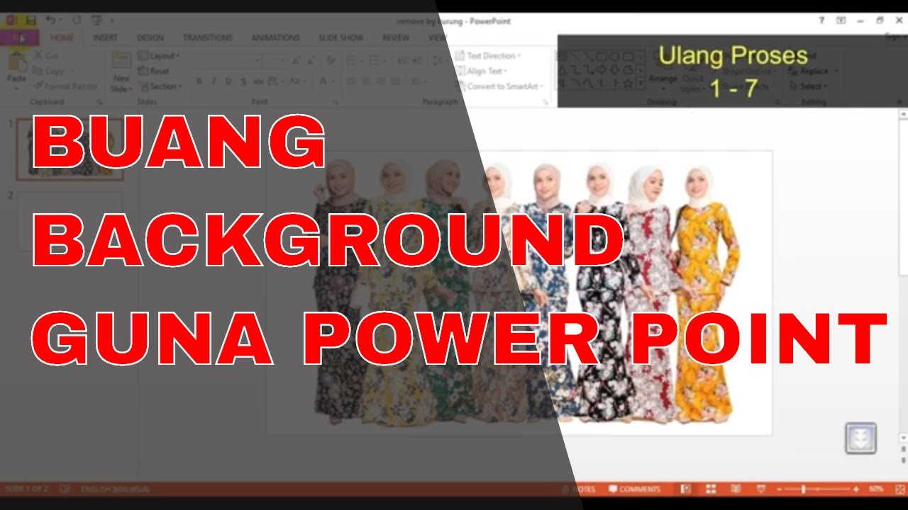 Bagaimana Membuang Background Menggunakan Power Point?