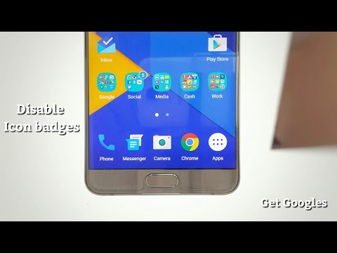 How To Disable Touchwiz Icon Badges On Samsung Galaxy Note5/S6 Edge Plus