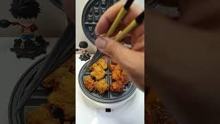 #와플기계로 순살 치킨…