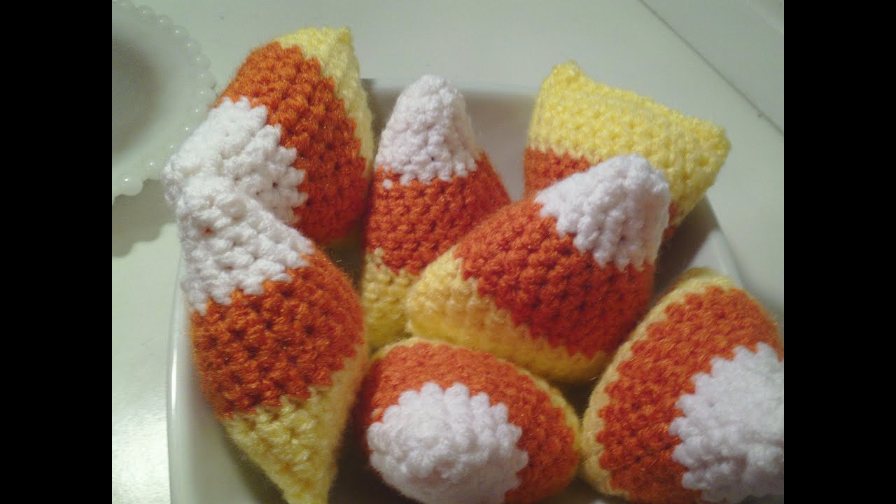 Halloween Amigurumi Tutorial : How to make a crochet candy corn craft for halloween youtube