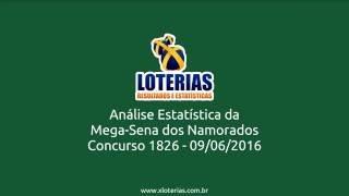 Análise Estatística Mega Sena dos Namorados 1826