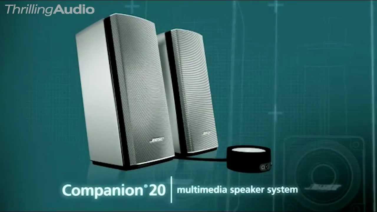 new bose companion 20 multimedia speaker system features. Black Bedroom Furniture Sets. Home Design Ideas