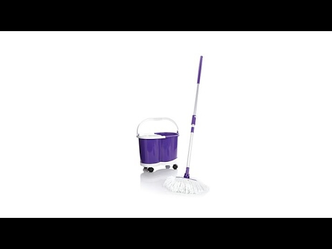 Hurricane Pressto Spin Mop With Dolly And 2 Mop Heads