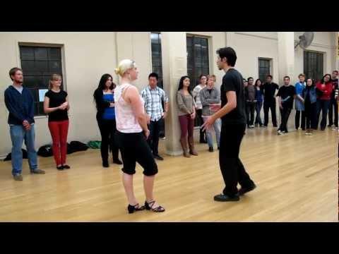 1/24/2013 UC Berkeley Argentine Tango: intro steps, practice hold, walking & pausing
