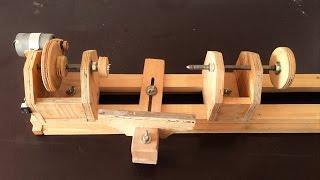 Making a Homemade Lathe -- El Yapımı Torna Makinası