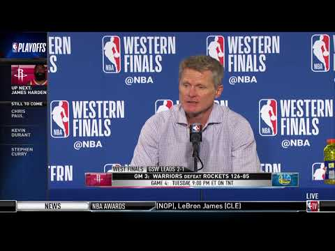 Coach Steve Kerr | Western Conference Finals Game 3 Press Conference