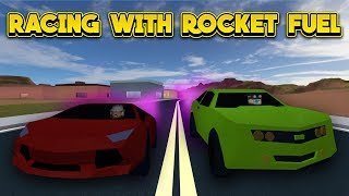 RACING VEHICLES WITH ROCKET FUEL! (ROBLOX Jailbreak)