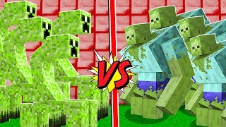 MUTANTE CREEPER VS. MUTANTE ZUMBI NO MINECRAFT!