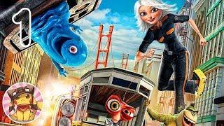 MONSTERS vs ALIENS Movie Game - Monster Escape (chapter 1) Gameplay Walkthrough Part 1 [1080p]