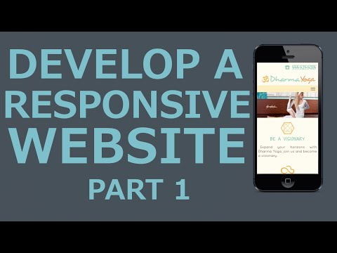 develop a responsive website with html5 css3 jquery   part 1 introduction