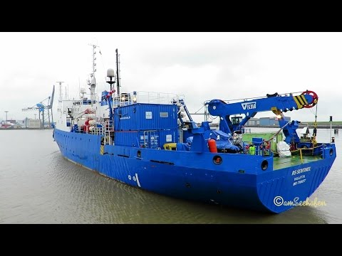 research survey vessel RS SENTINEL 9HA3754 IMO  7106877 Emden sealock seaship BJ 1971