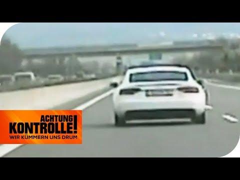 Extrem-Raser erwischt! Was sagt der Audi-Fahrer zu seinem Fahrstil? | Achtung Kontrolle | kabel eins