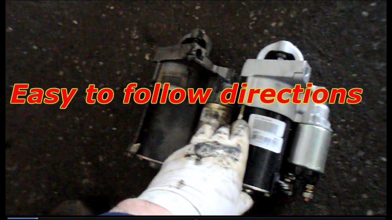 How To Replace The Starter On A 1998 Chevy Malibu YouTube