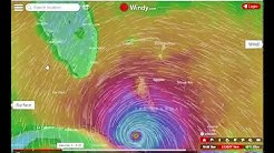 your predicted local wind direction for hurricane Irma & other storms