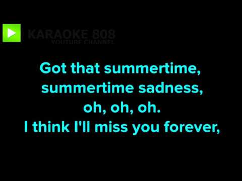 Summertime Sadness Lana Del Rey Cover ~ Miley Cyrus Karaoke Version ~ Karaoke 808