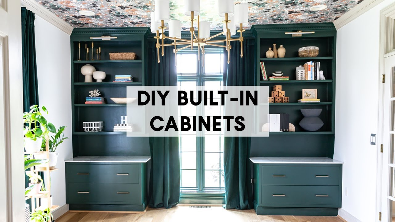 Easy Built In Cabinets How To For Beginners Youtube