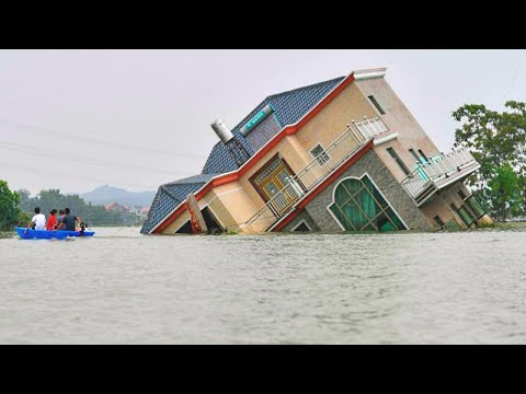 CHINE flood❗ Dongguan City center flooded, Guangdong Province. Flooding in China 2021