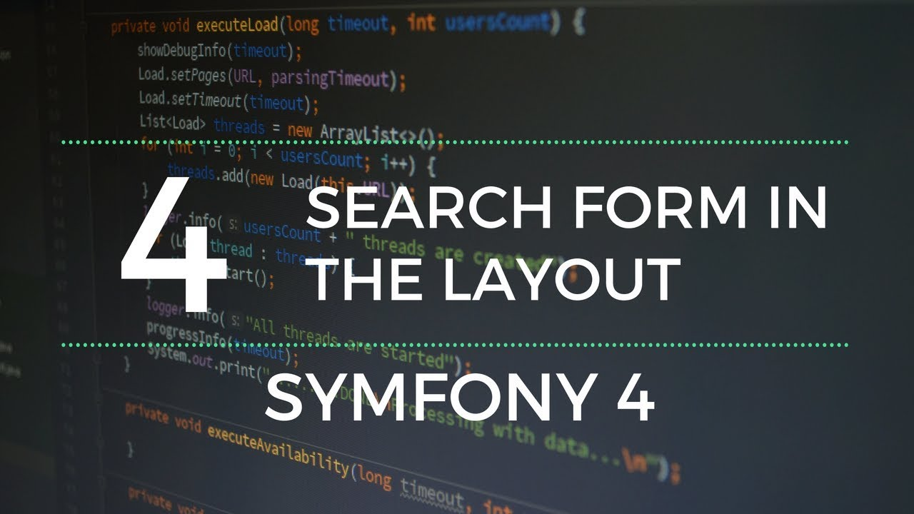 Symfony 4 : The layout's search form