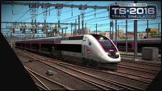 train simulator 2016 lgv med   marseille avignon   tgv carmillon
