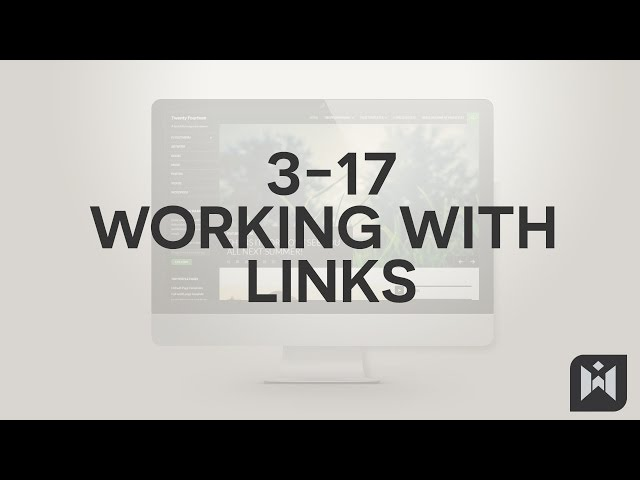 WordPress for Beginners 2015 Tutorial Series | Chapter 3-17: Working with Links