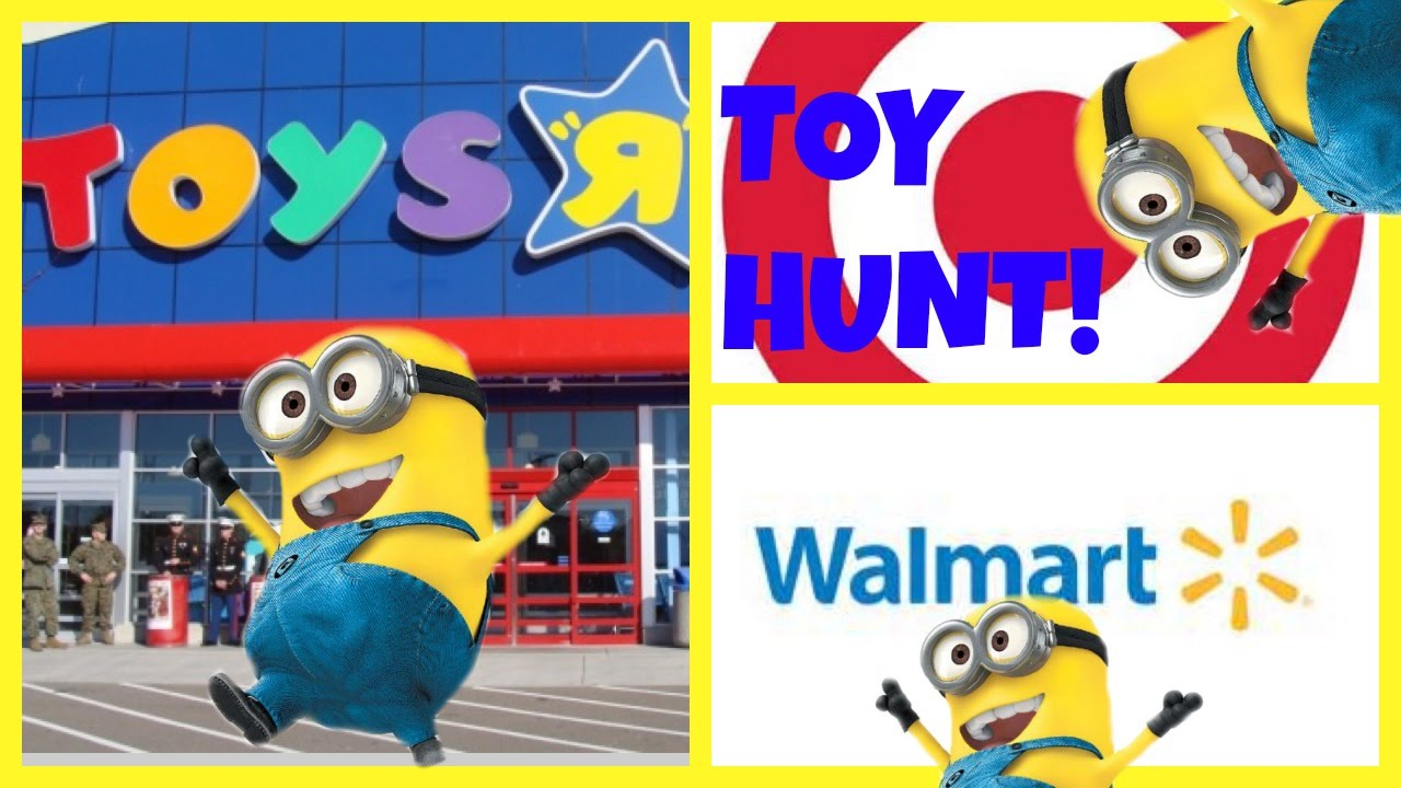 toy hunt toys r us target walmart minions shopkins youtube. Black Bedroom Furniture Sets. Home Design Ideas