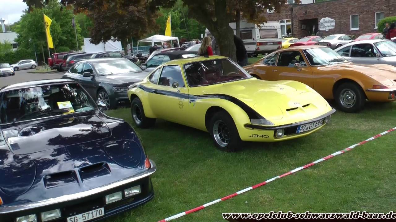 Opel GT Europatreffen 2016 in Bottrop Kirchhellen - YouTube
