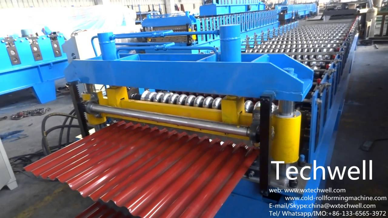 Corrugated Profile Roll Forming Machine, Corrugated Roof Wall Cladding Roll  Forming Machine