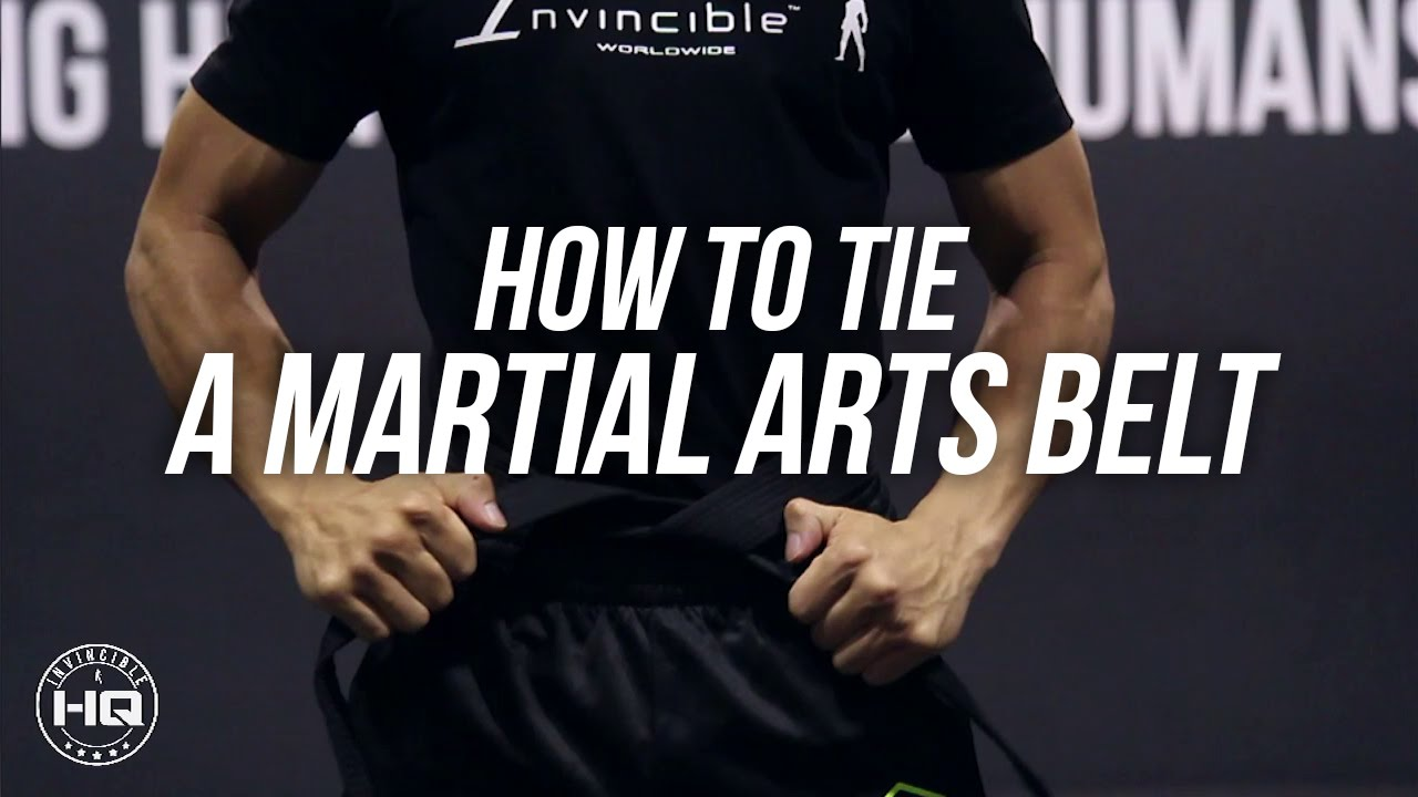 How To Tie A Martial Arts Belt With Meaning