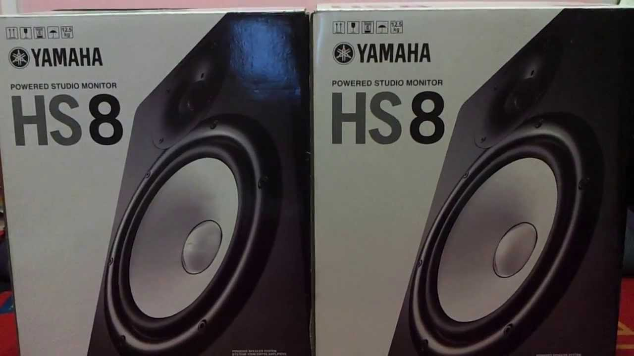yamaha hs 8 unboxing youtube