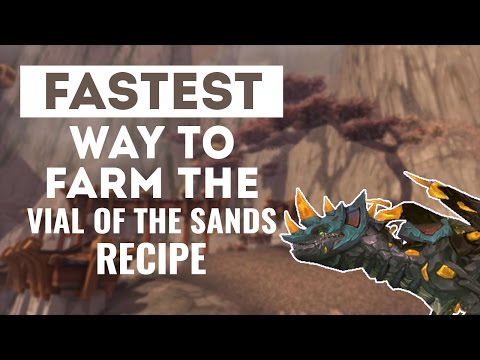 Fastest Way To Farm The Vial Of The Sands Recipe!