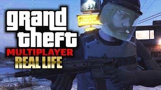 Polizei-Razzia bei unserem neuen Job 🎮 GTA 5: REAL LIFE (Roleplay) #062