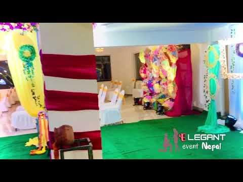 Mehandi setup at elegant event nepal (wedding and event planner)