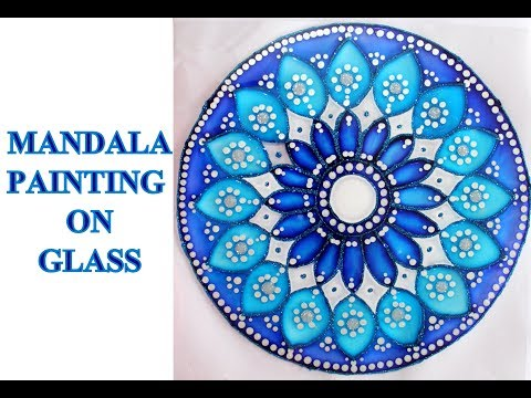 MANDALA PAINTING ON GLASS