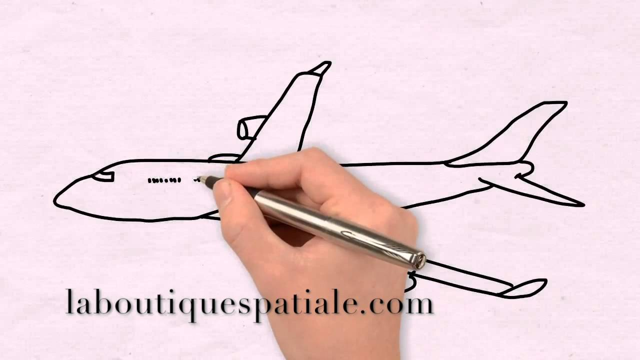 Dessiner un avion tutoriel youtube - Avion a dessiner ...