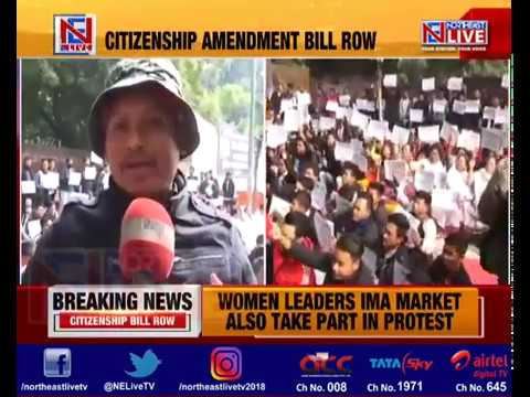 Manipur students bodies stage massive protest in New Delhi