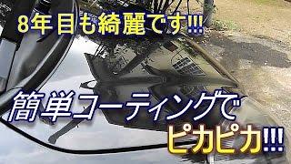 ダイハツ ミラ L275S ⑰DIY素人でもできる洗車&コーティング (業者向け ガラス繊維系&電着ガラス被膜コート親水性 Pro SpecⅡ)