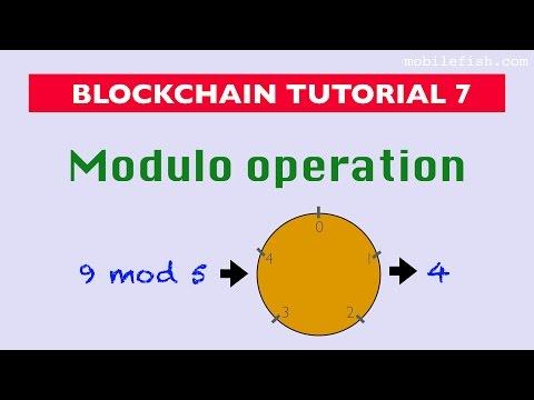 Blockchain tutorial 7: Modulo operation
