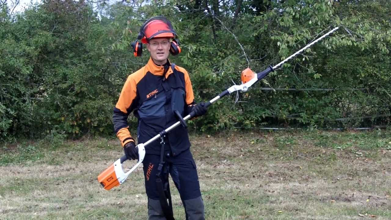 stihl coupe haies batterie hla 65 youtube