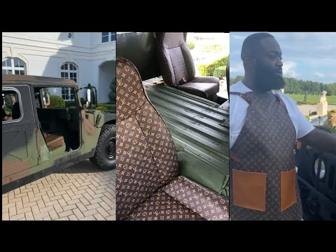 Rick Ross gets customized Louis Vuitton for his military Hummer