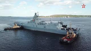 Отряд кораблей СФ вернулся домой из многомесячного похода: кадры встречи моряков