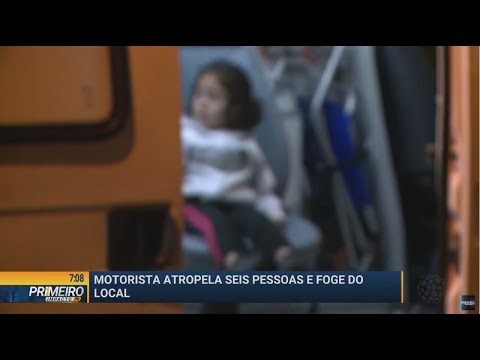 Motorista atropela seis pessoas e foge em Almirante Tamandaré - Primeiro Impacto PR (20/05/19)