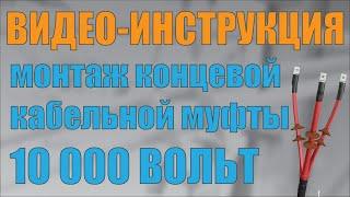 Видео инструкция по монтажу кабельной муфты 3 КВТп и 3 КНТп(Монтаж концевой термоусаживаемой кабельной муфты 3 КВТп или 3 КНТп производства ОАО