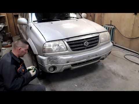 Как восстановить бампер. Suzuki. Bumper Repair. полный ремонт .