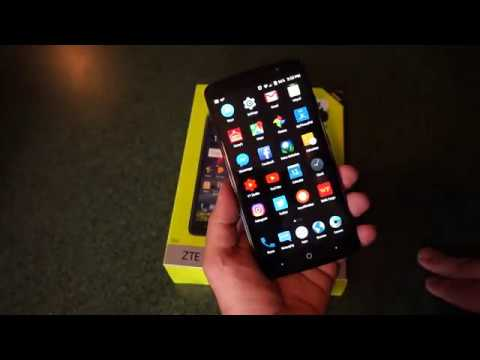 ZTE Max Blue 4G LTE new Straight Talk Smartphone. Hands on review and overview.