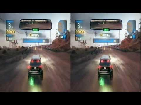 Blur Racing Game 3d Stereoscopic Video Capture in HD