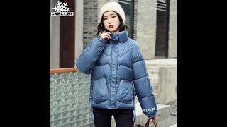 Женская короткая куртка с хлопковой подкладкой greller осенне зимняя парка воротником стойкой 2021